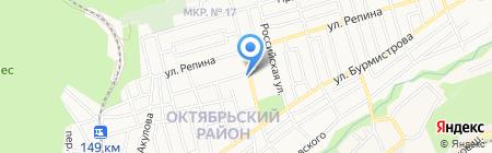 Автолайн на карте Ставрополя