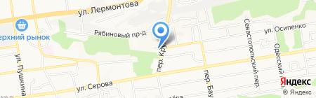 Адвокатский кабинет Федотова Н.В. на карте Ставрополя