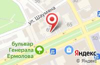 Схема проезда до компании Жилищная Управляющая Компания №4 в Ставрополе