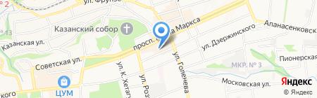 Радиочастотный центр Южного Федерального округа на карте Ставрополя