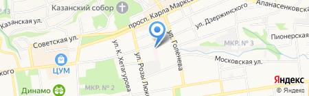 Бюро судебно-медицинской экспертизы на карте Ставрополя