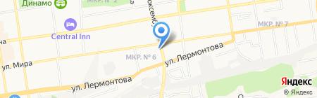 Полосатый Рейс на карте Ставрополя