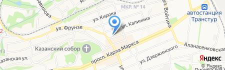 Бирюза на карте Ставрополя