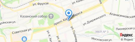 Sisley на карте Ставрополя