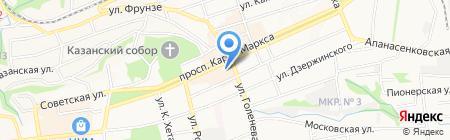 Кавказ-Полиграфия на карте Ставрополя