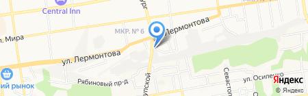 Авто на карте Ставрополя