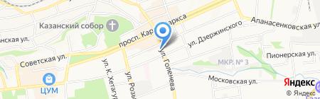 Континент-Тур на карте Ставрополя