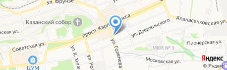 Пивная станция на карте Ставрополя