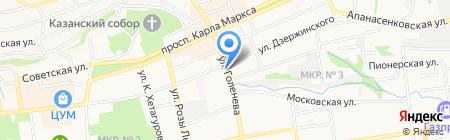 Лагуна на карте Ставрополя