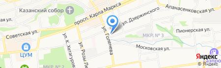 Средняя общеобразовательная школа №4 с углубленным изучением отдельных предметов на карте Ставрополя