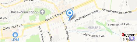 Эвакуатор на карте Ставрополя