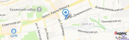 Объединенный ведомственный архив на карте Ставрополя