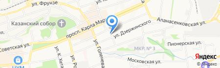 Родник на карте Ставрополя