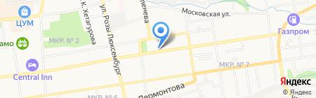 Цветочный магазин на ул. Ленина на карте Ставрополя