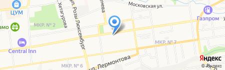 Золотой телец на карте Ставрополя