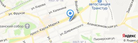 Космос на карте Ставрополя