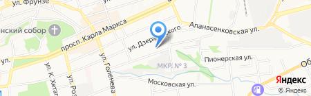 Аквамарин на карте Ставрополя