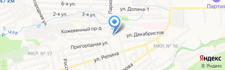 Магазин по продаже мясной продукции на ул. Декабристов на карте Ставрополя