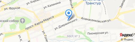 Средняя общеобразовательная школа №64 на карте Ставрополя