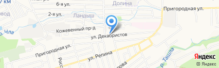 Универсал на карте Ставрополя