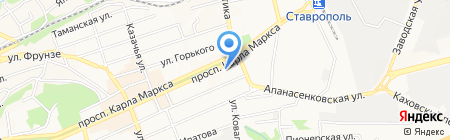 Курочка Рядом на карте Ставрополя