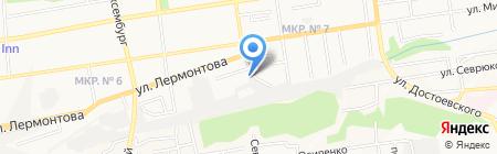 Крест на карте Ставрополя