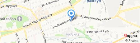 Газетный двор на карте Ставрополя