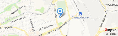 Управляющая компания г. Ставрополя на карте Ставрополя