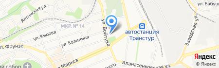 Лицей №8 на карте Ставрополя