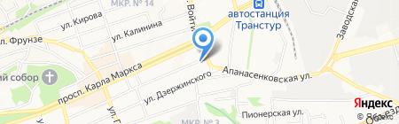De facto на карте Ставрополя