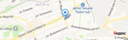 Продуктовый магазин на проспекте Карла Маркса на карте Ставрополя