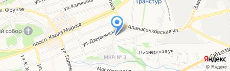 Сауна на карте Ставрополя