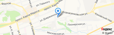 Клён на карте Ставрополя