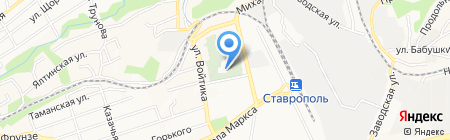 Храм Успения Божией Матери на карте Ставрополя