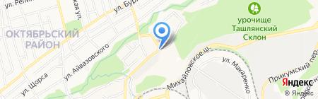 Атлант-Моторс на карте Ставрополя