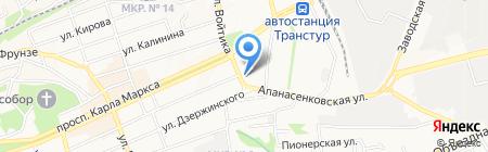 АРЛЕКИНО на карте Ставрополя