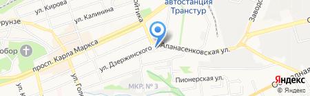 Банк ВТБ 24 на карте Ставрополя