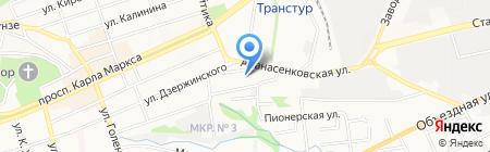 Детский сад №33 Гнездышко на карте Ставрополя