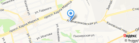 Автомойка на карте Ставрополя