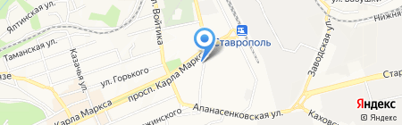 Закусочная на карте Ставрополя