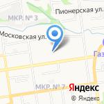 Детский сад №29 на карте Ставрополя