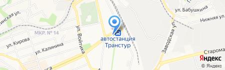 Красный металлист на карте Ставрополя