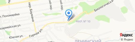 На Горной на карте Ставрополя