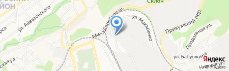 Сан-славия на карте Ставрополя