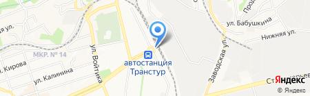 Ставрополь на карте Ставрополя