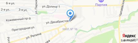 Восход на карте Ставрополя
