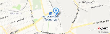 Центр гигиены и эпидемиологии по железнодорожному транспорту на карте Ставрополя