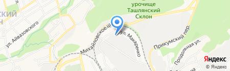 Горбуновъ на карте Ставрополя
