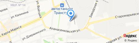 Электролюкс на карте Ставрополя
