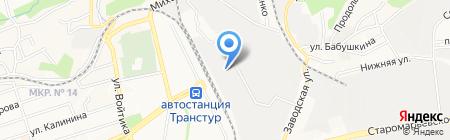 Ставтрис на карте Ставрополя